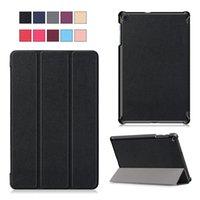 samsung için tablet kapakları toptan satış-Samsung 10.1 İnç Tablet (SM-T510 / T515) Stylus Tutucu, Kartlar İçin Prim PU Deri Standı Kapak - Samsung Galaxy Tab 10.1 2019 için Kılıf