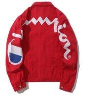 ingrosso nuovi uomini lunghi stili di cappotto-Uomo autunno nuovo stile Designer Denim Jacket Jean Coat Uomo Donna manica lunga Abbigliamento outdoor Abbigliamento uomo Abbigliamento donna