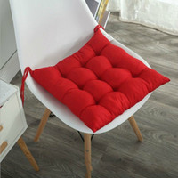 Wholesale red office chairs resale online - New Soft Comfortable Chair Seat Cushion Office Home Decor Square Seat Cushion Decorative Pillows Thicken Chair Seat Pad almofadas
