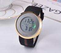 кварцевый хронограф швейцарский оптовых-Лучшие цифровые женские швейцарские часы мужские хронограф кварцевые часы спортивные дата ааа часы с золотой резинкой бесплатная доставка