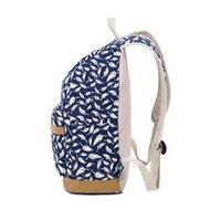 çocuk kitapları toptan satış-Çocuk sırt çantası çocuk çantası okul çantaları kızlar için tüy baskı tuval sırt çantası laptop kitap çantası kız schoolbag için