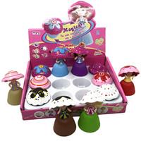 silikon oyuncaklar kek toptan satış-Yaratıcı bebek bebek kek silikon oyuncak kek prenses serisi karakter dekorasyon oyun evi oyuncak kız doğum günü hediyesi