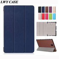 tablette samsung schlank großhandel-Für Samsung Galaxy Tab A 10.5 T590 T595 Luxus Ultra Slim Magnetic Flip Leder Tablet Hülle