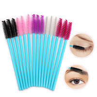 Wholesale lip wands resale online - Disposable Eyelash Brush Lip Brush Lash Extension Mascara Applicator Eyelash Brushes Mascara Wands Cosmetics Make Up Tool RRA2063