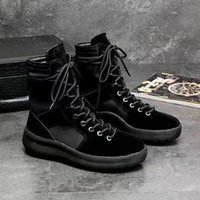 Wholesale man army fashion boots resale online - Hot Sale Brand high boots Best Quality Fear of God Top Military Sneakers Hight Army Boots Men and Women Fashion Shoes Martin Boots y0