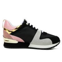 damenschuhe großhandel-Hot Luxury Beliebte Leder Freizeitschuhe Frauen Männer Designer Turnschuhe Schuhe Mode Leder Schnürschuh Gemischte Farbe Mit Box