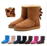 ботинки для австралийских ботинок оптовых-2019 Австралия Женщины Снег Сапоги Водонепроницаемый Натуральная Кожа Зимняя Обувь Австралийский Бренд Cowskin Сапоги Mujer Botas Femmes Боттес