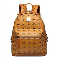 качественные дамские рюкзаки оптовых-Кожа Высокого Качества 2 размер мужчины женская Рюкзак известный Рюкзак Дизайнер леди рюкзаки Сумки Женщины Мужчины рюкзак