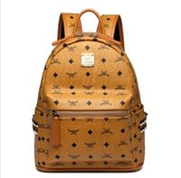 bolsas de embalaje de alta calidad al por mayor-Cuero de alta calidad 2 tamaño de los hombres de las mujeres mochila Mochila diseñador señora mochilas Bolsos Mujeres Hombres mochila