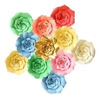 hintergrundfotos hochzeitsdekoration großhandel-20 cm DIY Papier Blumen Wanddekorationen Party Foto Hintergrund Künstliche Blume für Hochzeit Geburtstag Party Dekoration