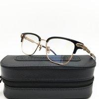 marcos de gafas de corazón al por mayor-Moda Gafas Chrome Corazones Modelo retro decorativo Círculo capítulo de espectáculo de Lucha contra la radiación azul 4 colores con la caja 38g