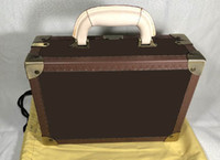 Brown Flower MO. hard sided Suitcases , It is a Jewelry Box too or COTTON BAG , Customer order