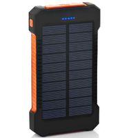 ingrosso batteria per tablet di samsung-18650 Batterie esterne Pack, Caricabatterie solare Telefono impermeabile Batteria esterna Dual USB Power Bank Per Iphone, SAMSUNG, MOBILE, COMPRESSE, Fotocamera