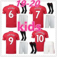 unisex basketbol şortları toptan satış-manchester united jerseys POGBA LUKAKU RASHFORD Manchester United kids 2019 2020 football kits basketball soccer jersey short football shirt maillot de foot camiseta de fútbol