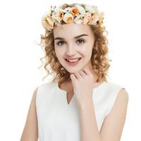 Wholesale ribbon head wreaths for sale - Group buy Flower Bridal Floral Crown Cute Hair Band Wreath Mint Head Wreath Wedding Headpiece Bridesmaid Women Hair Accessories CPA1893