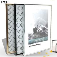 ingrosso arte in metallo muro in alluminio-Picture Art, classico Reinforce in alluminio A4 A3 Poster per appendere a parete, metallo Photo Frame Wall, certificato Frame, J190716