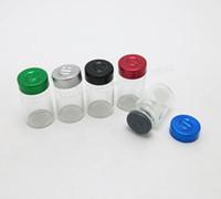 ingrosso flip off il flaconcino-Bottiglie di fiala in vetro tubolare trasparente trasparente da 500 x 6 ml con tappo a strappo Tappo in silicone