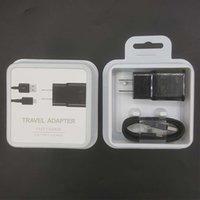 kabel für iphone uk großhandel-Hohe qualität us / eu / uk 15 watt 100% schnellladung reiseadapter ladegerät + typ c kabel für samsung s8 s10e 2 in 1 mit kleinverpackung