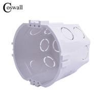 ingrosso wire round box-Coswall Standard UE, scatola di montaggio rotonda a parete, cassetta interna, scatola di cablaggio, scatola posteriore bianca per interruttore e presa UE