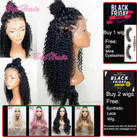 Wholesale brazilian kinky hair wig for sale - Group buy Bythair Lace Front Human Hair Wigs For Black Women Curly Lace Front Wig Virgin Hair Full Lace Wig With Baby Hair Bleached Knots