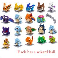 ingrosso blocca giocattoli educativi di plastica-Diamond Building Blocks Cartoon Anime Educational Toy Blocchi di plastica Pet Pikachu classe V093