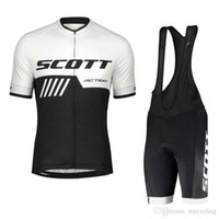 Wholesale yellow scott bicycles resale online - men s Cycling Jersey Set SCOTT Team Breathable Summer Racing Bicycle Clothing Ropa Maillot Ciclismo Bike Sport uniform Y052205