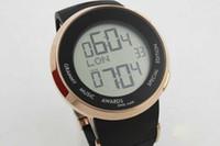 lüks saatler kauçuk kemer toptan satış-Trendy moda erkek spor elektronik dijital ekran, yuvarlak lüks ben serisi 244071 kauçuk kayış erkek spor saati.