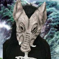 traje de cara de cerdo al por mayor-Scary Boar Pig Mask Horror Halloween Full Face Máscaras de látex para mujeres Hombres Cosplay Costume Festival Party Supplies