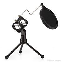 стоит оптовых-Кронштейн для настольного микрофона с двойной подставкой для фильтра