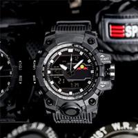 cinto mundial venda por atacado-Hot GWG1000 GMW-B5000 esportes ao ar livre relógio de quartzo dos homens à prova d 'água e à prova de choque display LED tempo do mundo PU cinto
