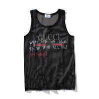 vücut geliştirme giysileri kadınlar toptan satış-Erkek Tasarımcı Örgü Tank Top Spor Vücut Geliştirme Marka Spor Giyim Lüks Kadın Yelekler Tee Erkek Hiphop İç Asya Boyutu M-XXL.B15 Tops