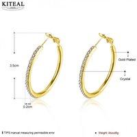 новая манжета уха моды оптовых-KITEAL 925 Hot New Fashion silver Gold color earrings for female yellow ear cuff hoop earrings cuff christmas gift