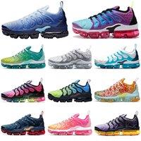 siyah limon toptan satış-nike air vapormax plus TN 2020 erkekler kadınlar koşu ayakkabı Hiper Menekşe Buz Mavi Limon Kireç Gerçek Olabilir üçlü siyah beyaz Gökkuşağı açık erkek eğitmenler spor sneakers