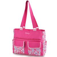 Wholesale pregnant women diapers resale online - Women Handbag Mummy Diaper Bag Maternity Travel Pregnant Baby Nursing Care Bags Mother Bag Handbag