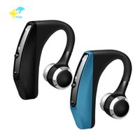 Wholesale single earphone mic resale online - Vitog V12 Bluetooth Headset Wireless Business Handsfree Office Earphones Headphones single headset With Mic Voice Control Noise Cancelling