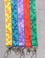 Wholesale Butterfly Neck Lanyard for keys ID Cards Holders Butterflies Mobile Phone keychain Straps
