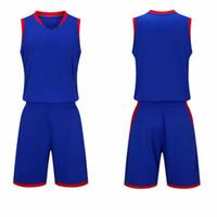 ingrosso 5xl uomini personalizzare pallacanestro jersey-Donna Ragazzi uomini di alta qualità vuoto Collegio Tuta formazione di basket Jersey Set traspirante squadra Uniforme di basket personalizzato