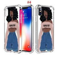 Wholesale note cases for girls online – custom Case For iPhone Max Pro s Plus X XS XR Max Melanin Poppin Black Girl Shockproof TPU Phone Case for Samsung S10 s10e S8 S9