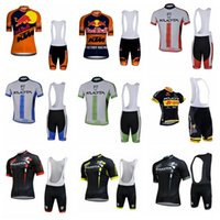 pantalones cortos de ciclismo kuota al por mayor-2019 KTM KUOTA Camisetas de ciclismo ropa de bicicleta Conjunto de ropa de bicicleta Camisa de manga corta Bib Shorts mtb ropa de bicicleta jersey de deporte K040207
