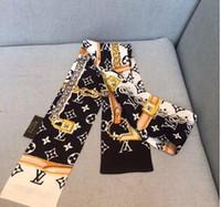 ingrosso bande di capelli di marca-Luxury Designer Seta BORSA Borsa sciarpa Fasce Nuovo marchio donna raschietto di seta 100% Top qualità sciarpa di seta fasce per capelli 8x120 cm