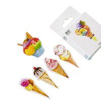 Wholesale sticky bookmarks resale online - 20packs lovely sweet ice cream shape decorative adhesive paper sticker bookmark sticky label gifts for kids