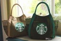 японские бренды сумки оптовых-Pop-tideing Starbucks Женская Сумка Япония Модный Бренд Холст Сумка Высокое Качество Сумка На Ремне 5 Цветов