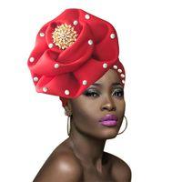 Wholesale african head wraps resale online - 2018 NEW african ready to wear gele african head wraps turban