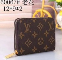 Wholesale cow leather purse resale online - VD2 European and American Fashion Short Wallets Top Cow Leather Money Clip Thin Purses Unisex Credit Card Holder HMET