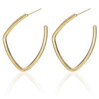 Wholesale geometric earrings for sale - Trendy Geometric Piercing Drop Earrings Irregular Round Dangle Earrings Gold Silver Color for Women Statement Jewelry DHL