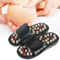 massagem sapatos chinelos venda por atacado-Massagem nos pés Chinelos Acupuntura Terapia Massageador Sapatos Para as pernas Acuponto Ativando Reflexologia Pés Cuidados massageador Sandal Polka-dot AB