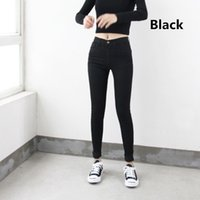Wholesale pantalones jeans mujer for sale - Group buy High Waist High Elastic Jeans Women Hot Sale American Style Skinny Pencil Denim Pants Fashion Pantalones Vaqueros Mujer