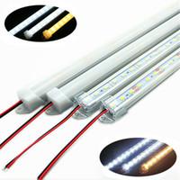 Umlight1688 LED Light Bar 5730 7020 1M 72 LEDs Rigid Strip Bar 12V Hard Light Tiras with Aluminium Alloy Cover DHL 50pcs lot