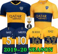 junior tops venda por atacado-Qualidade superior 2019 2020 Boca Juniors Camisa de Futebol Casa Fora 19 20 Boca Juniors GAGO OSVALDO CARLITOS PEREZ DE ROSSI camisas de Futebol TEVEZ
