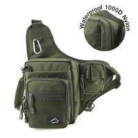 комплект талии для рыболовных снастей оптовых-Hetto Fishing Sling Pack - сумка на ремне, слинг, сумка из полиэстера, водонепроницаемая приманка, сумка для талии - многоцелевая сумка для рыбалки # 28489